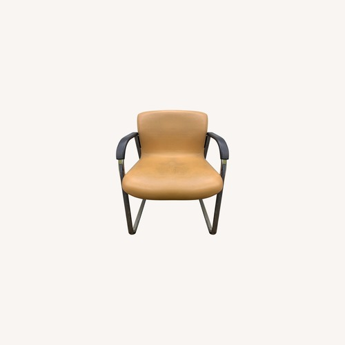 Used Knoll Classic Leather Armchairs for sale on AptDeco