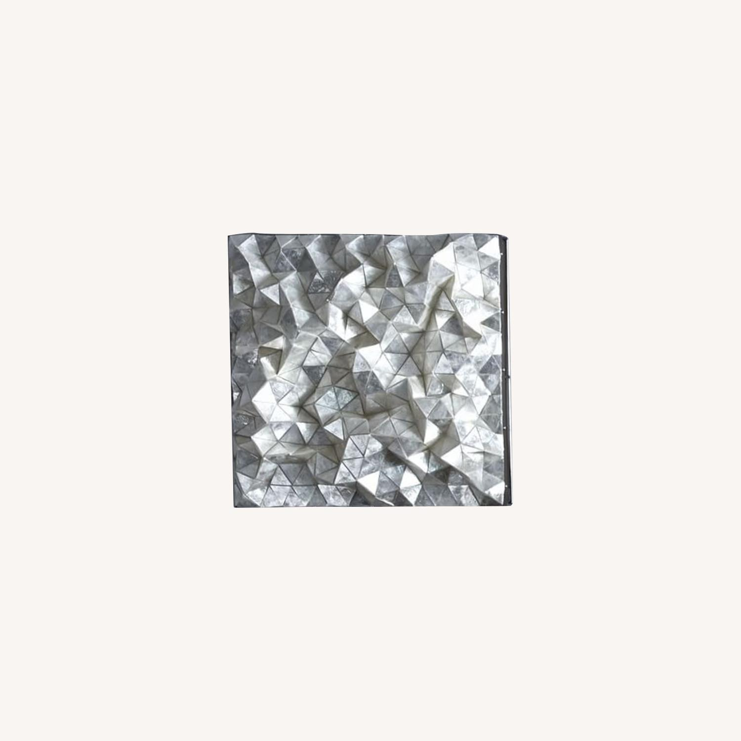 West Elm Capiz Wall Art, Faceted Square - image-0