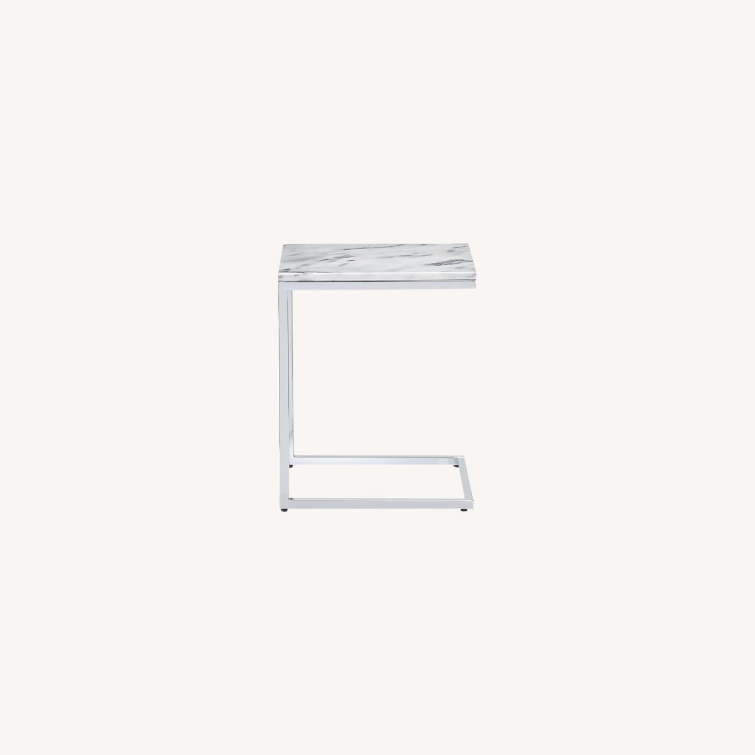 CB2 Marble Side Table - image-0