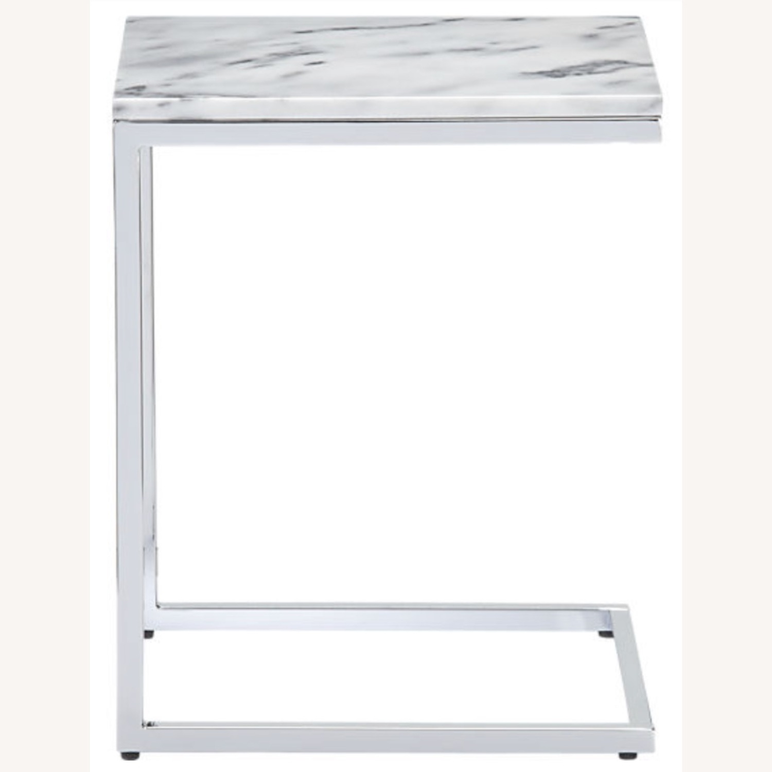 CB2 Marble Side Table - image-1
