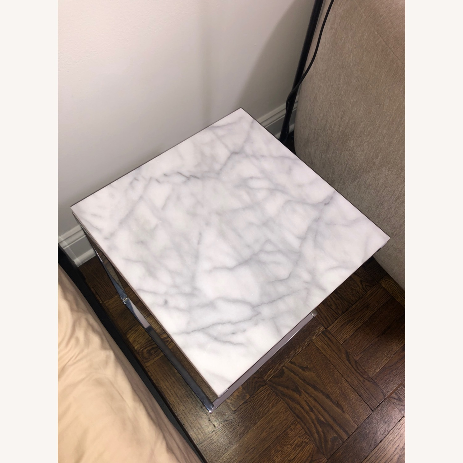 CB2 Marble Side Table - image-2