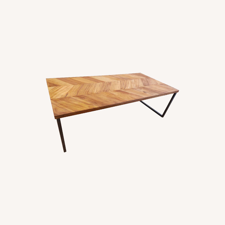 CB2 Chevron Coffee Table - image-0