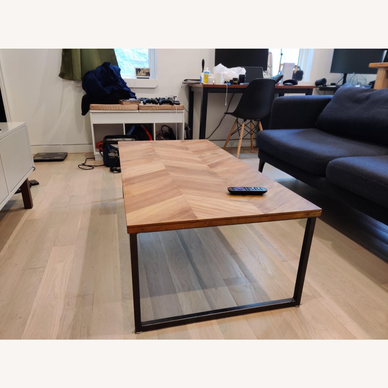 CB2 Chevron Coffee Table - image-1