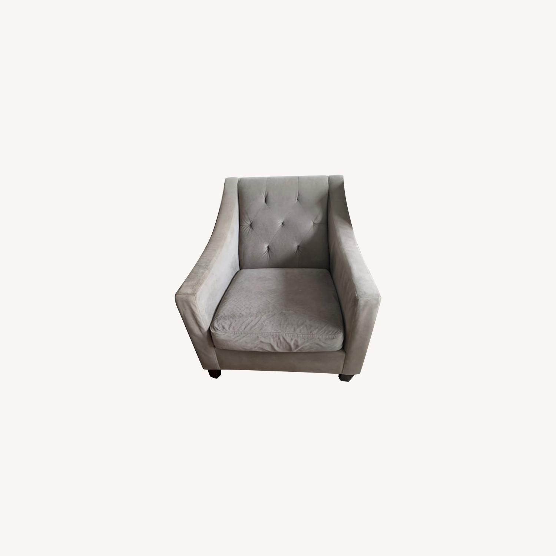 Macy's Grey Club Chair - image-0