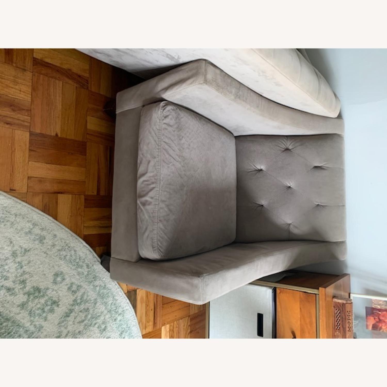 Macy's Grey Club Chair - image-4