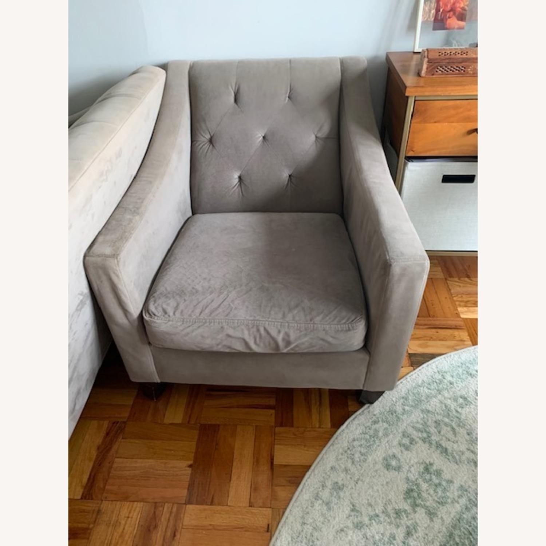 Macy's Grey Club Chair - image-1