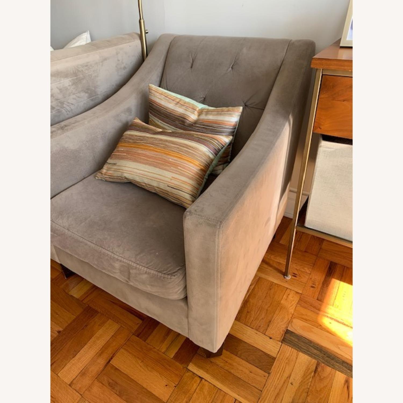 Macy's Grey Club Chair - image-2