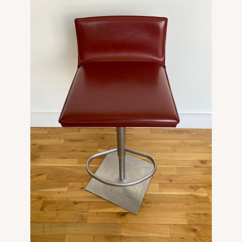 Frag Italian Red Leather Bar Stools - image-3