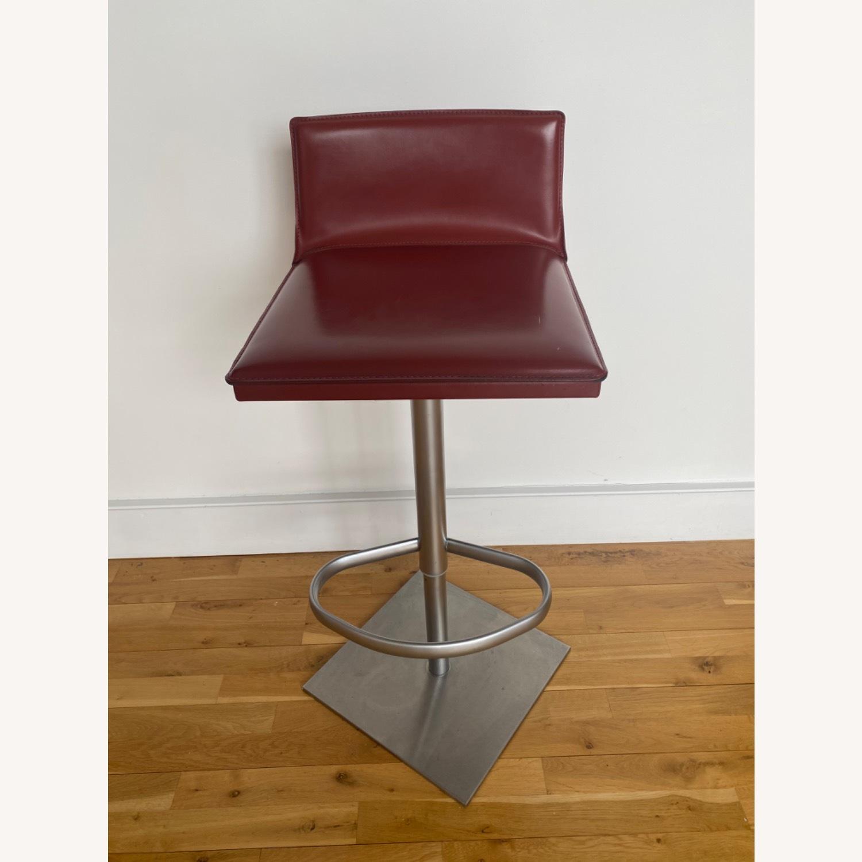 Frag Italian Red Leather Bar Stools - image-1
