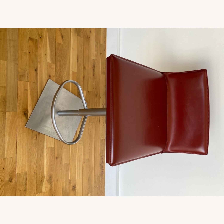 Frag Italian Red Leather Bar Stools - image-8
