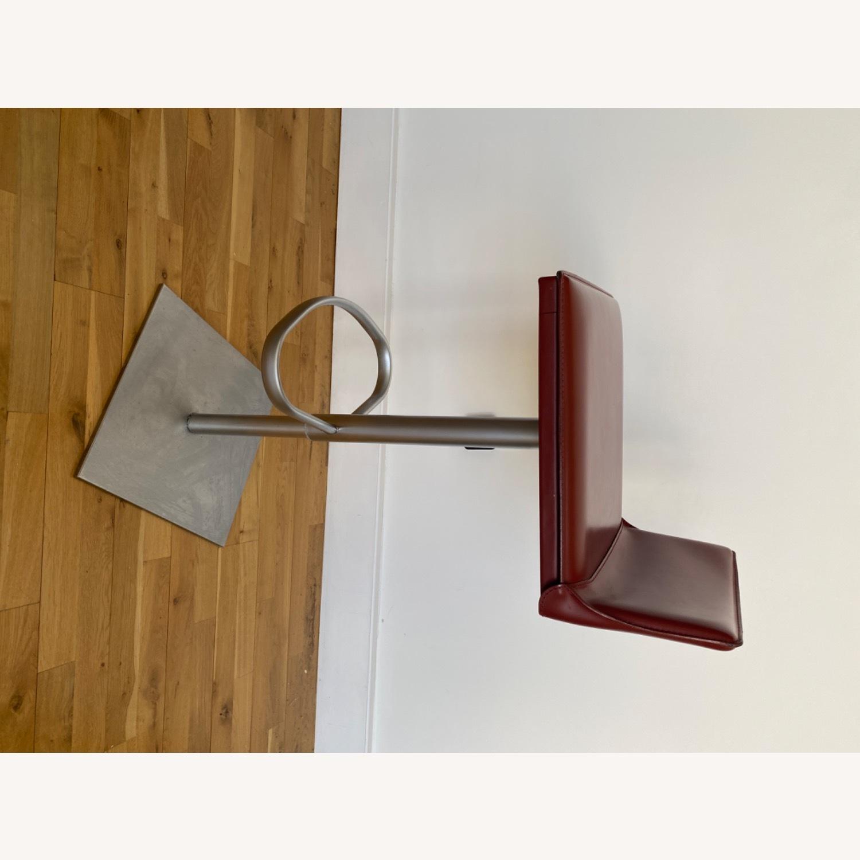 Frag Italian Red Leather Bar Stools - image-5
