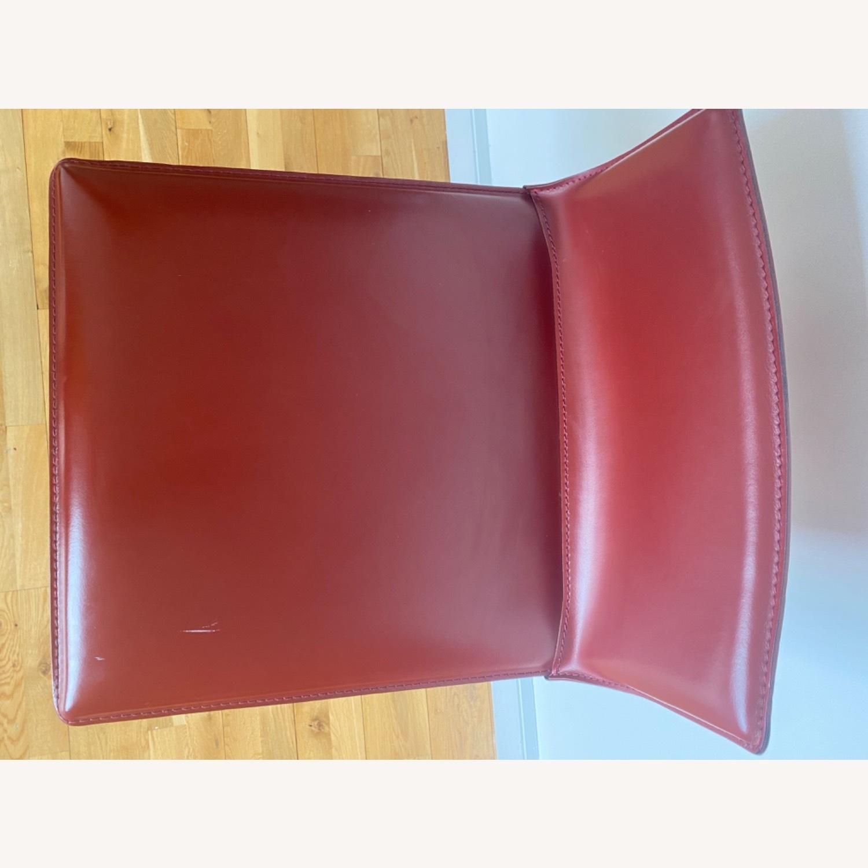 Frag Italian Red Leather Bar Stools - image-7