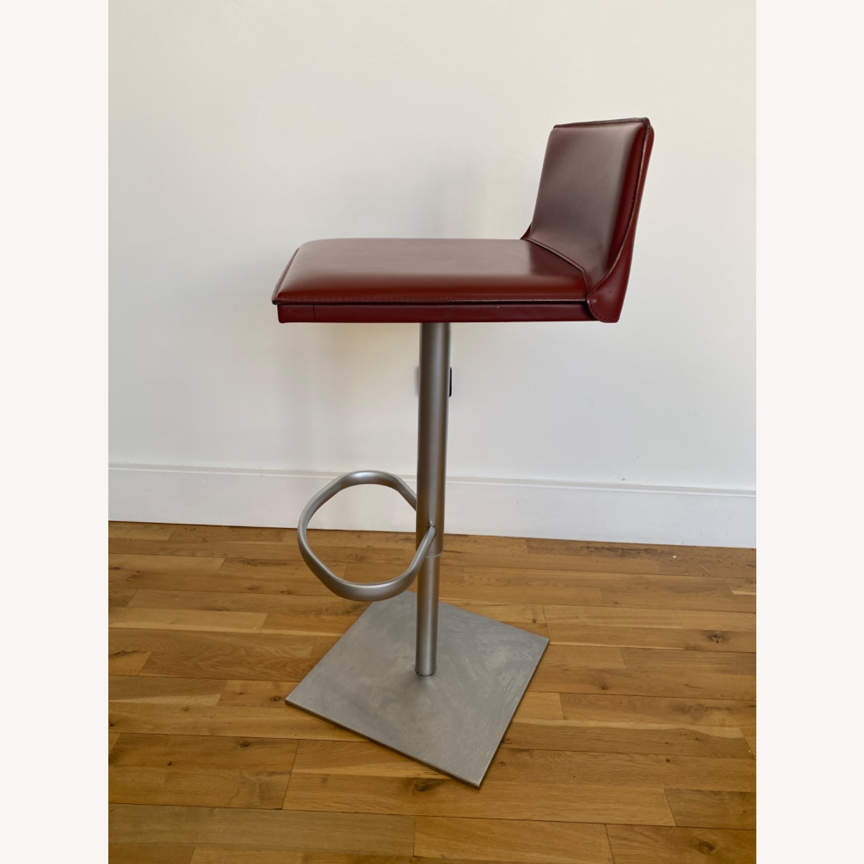 Frag Italian Red Leather Bar Stools - image-2