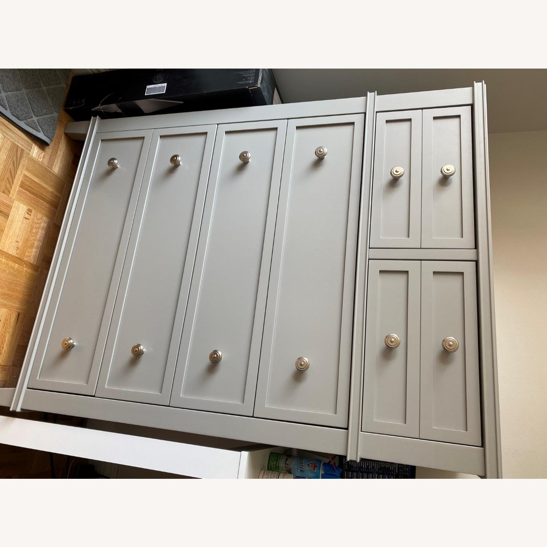 Pottery Barn Clara Tall Dresser (Gray) - image-7