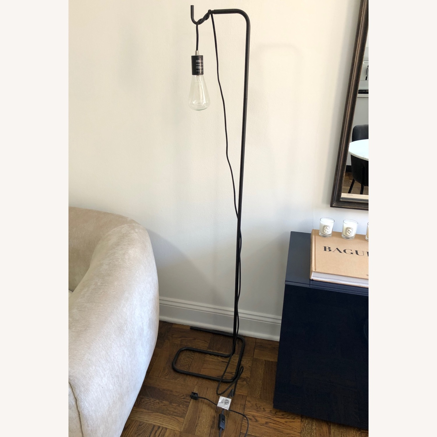 Black Industrial Floor Lamp - image-1