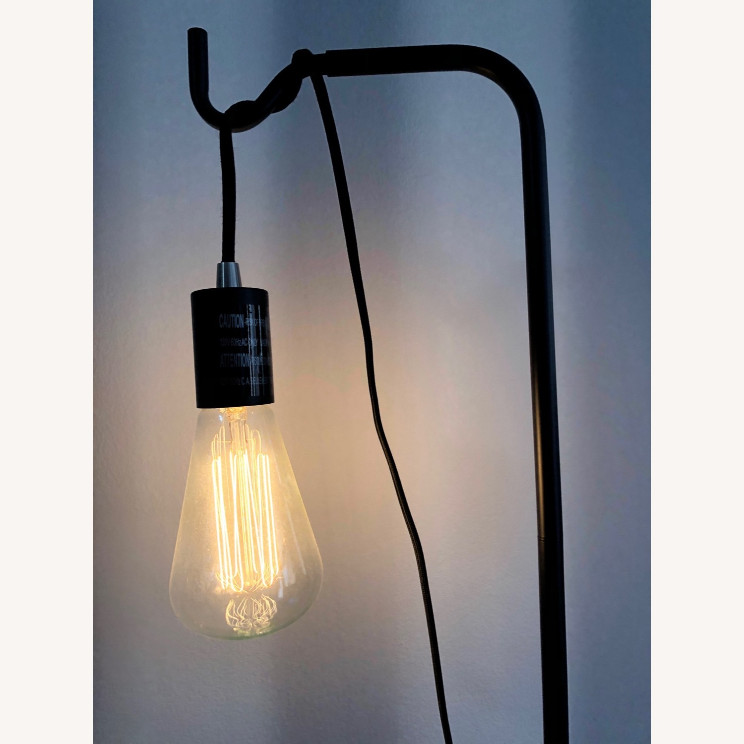 Black Industrial Floor Lamp - image-3