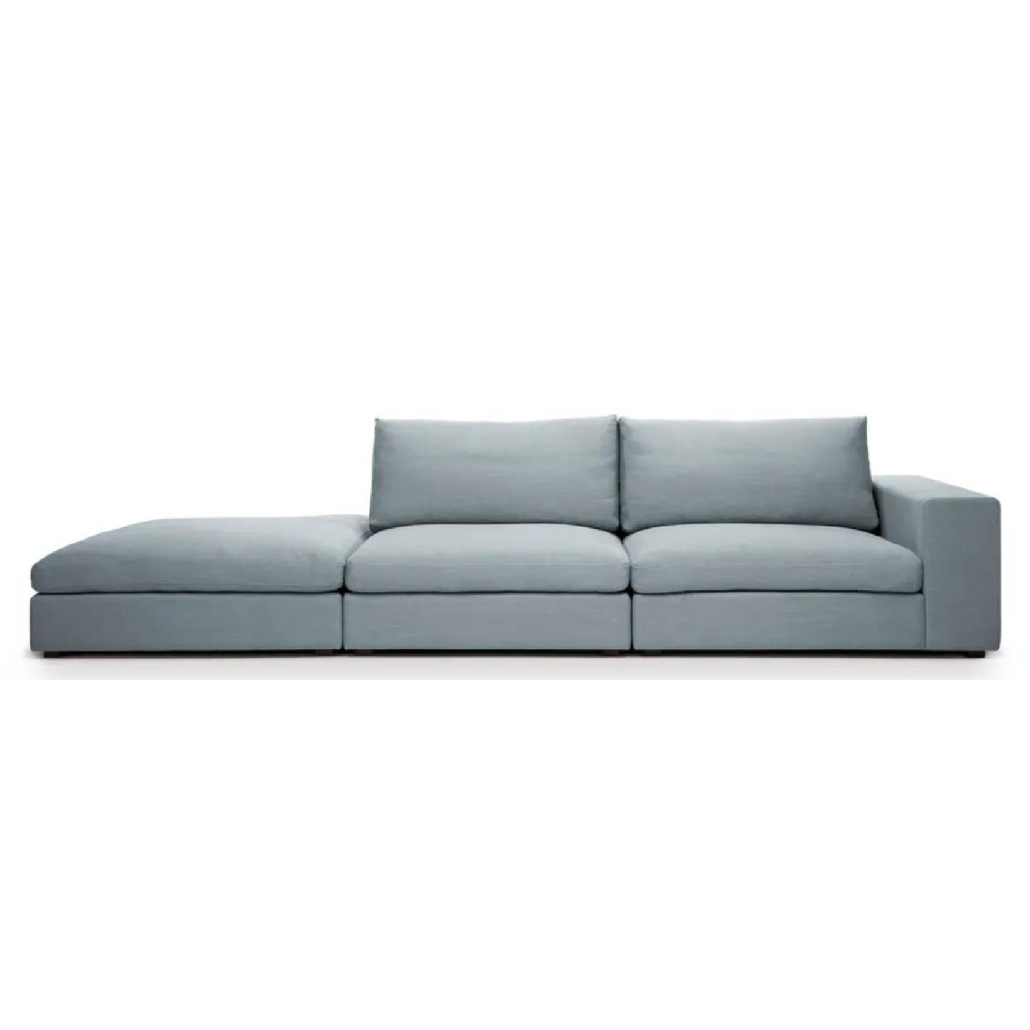 Article Cube Glacier Blue Modular Sofa - image-6