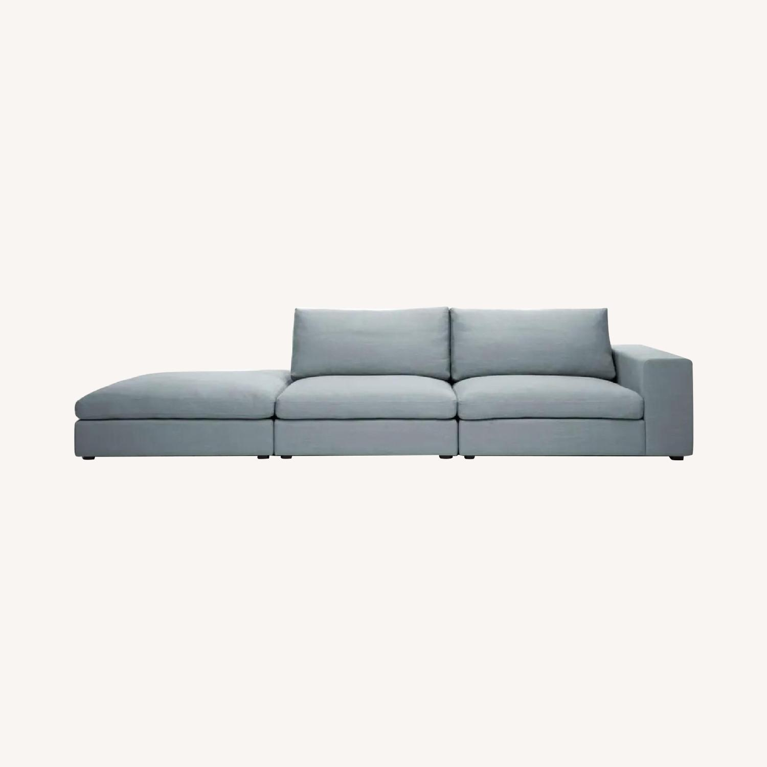 Article Cube Glacier Blue Modular Sofa - image-0