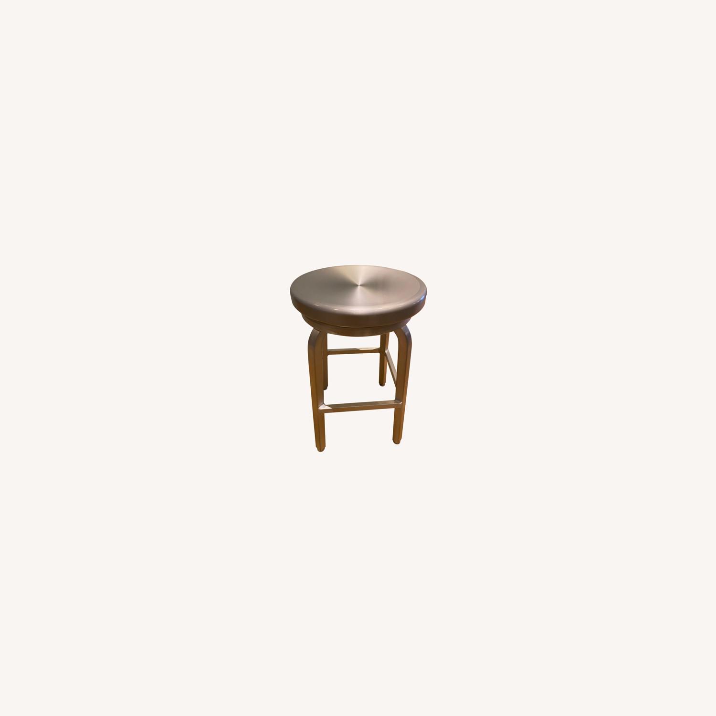 Crate & Barrel Spin Swivel Bar Stools - image-0