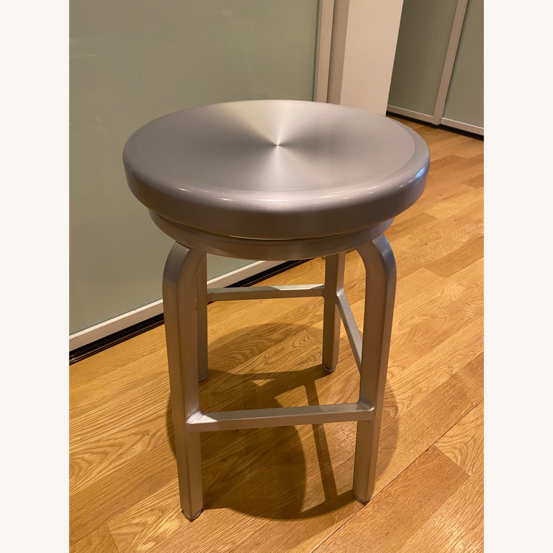 Crate & Barrel Spin Swivel Bar Stools - image-3