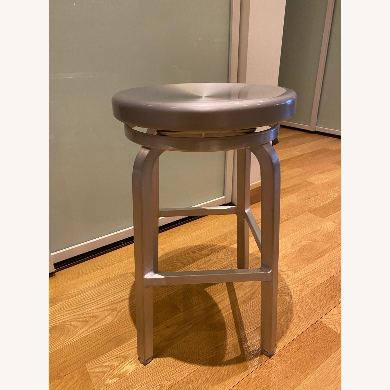 Crate & Barrel Spin Swivel Bar Stools - image-1