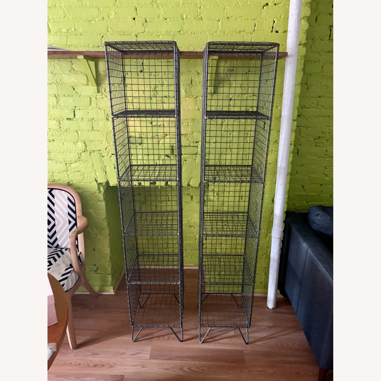 CB2 Coop Wire Tower Shelves (Set of 2) - image-2