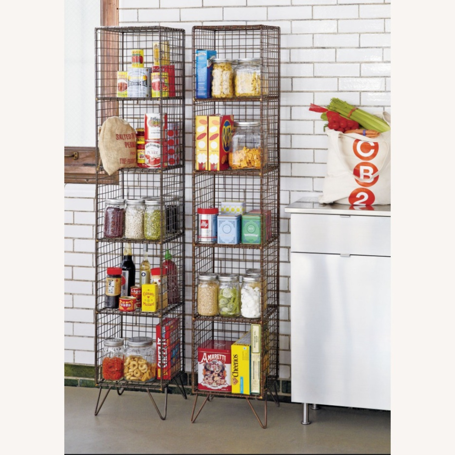 CB2 Coop Wire Tower Shelves (Set of 2) - image-1