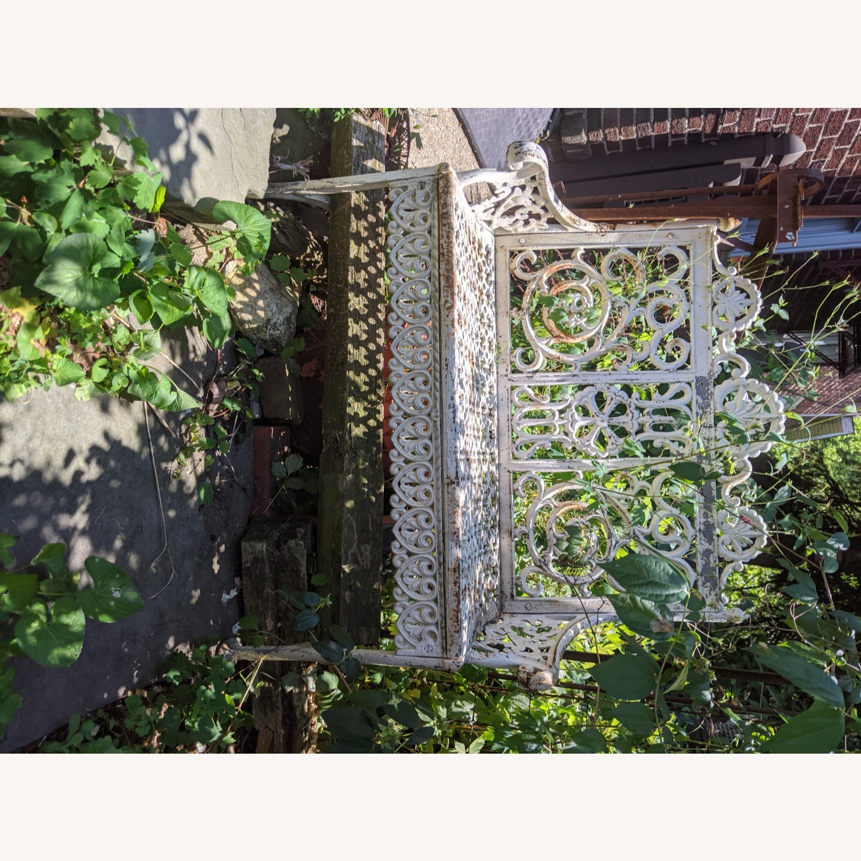 Antique Garden Bench - image-5