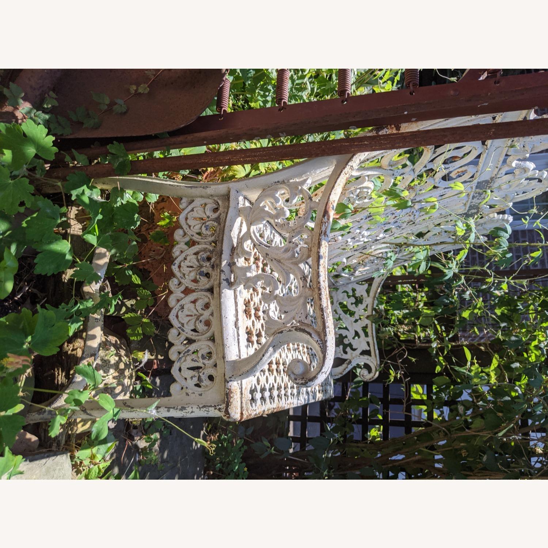 Antique Garden Bench - image-7