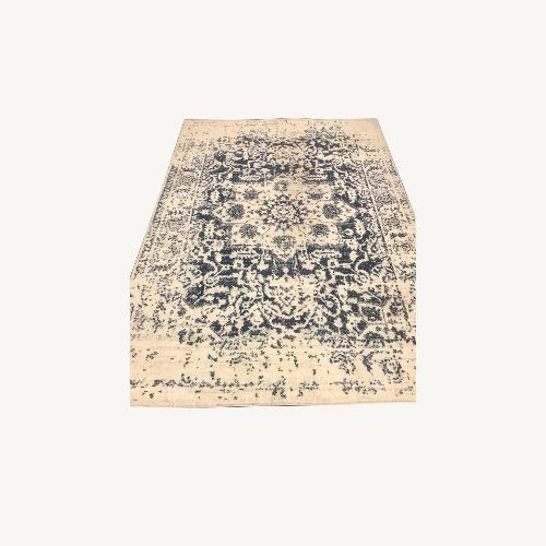 Used The Madison Collection Blue/Cream Oriental Area Rug for sale on AptDeco