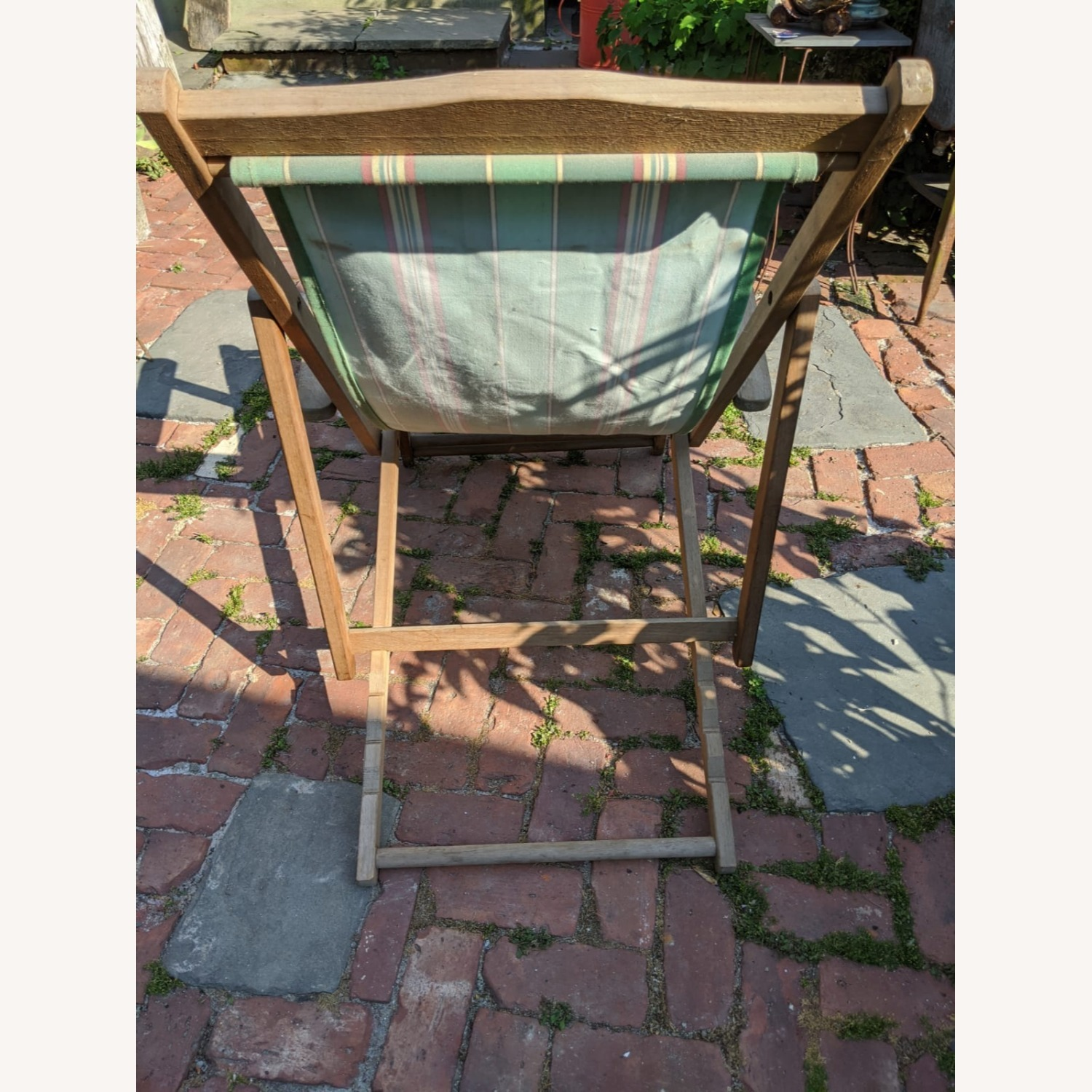 Reatoration Hardware 2 outdoor Sling Chairs with foot rests - image-3