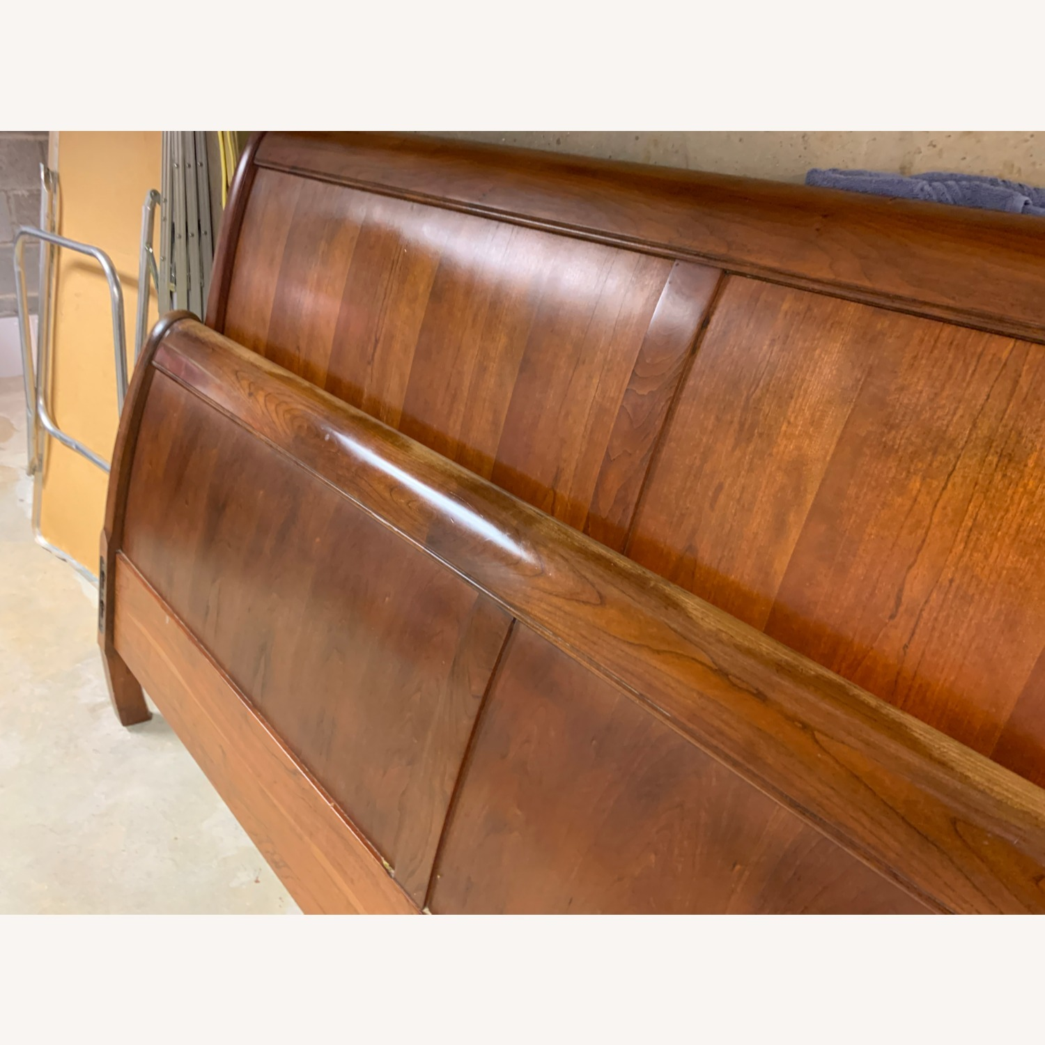 Stickley King Mission Cherry Panel Sleigh Headboard & Foot - image-7