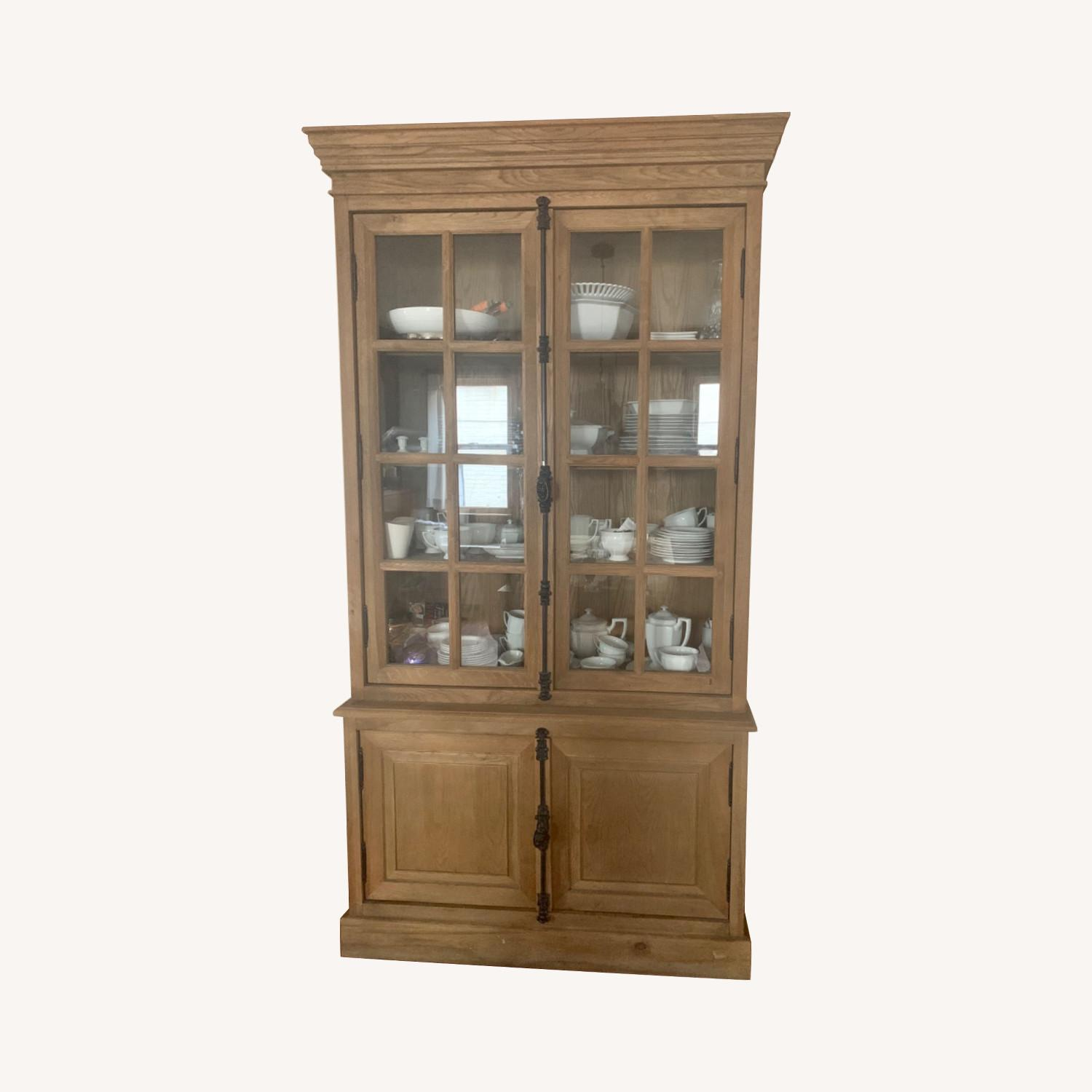 Restoration Hardware Oak French Cabinet - image-0