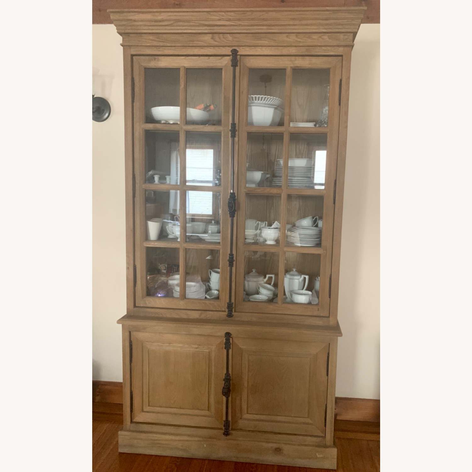 Restoration Hardware Oak French Cabinet - image-1