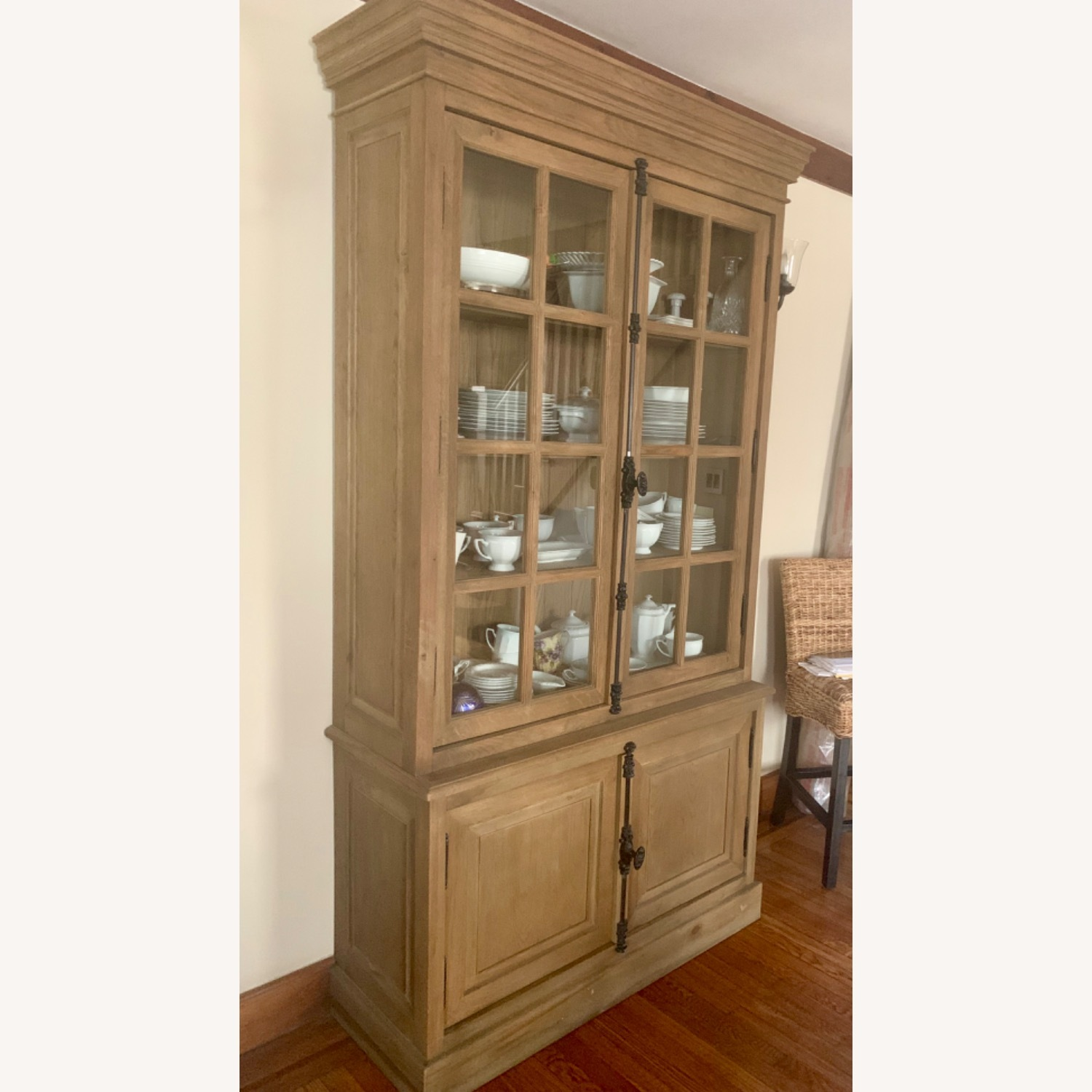 Restoration Hardware Oak French Cabinet - image-3