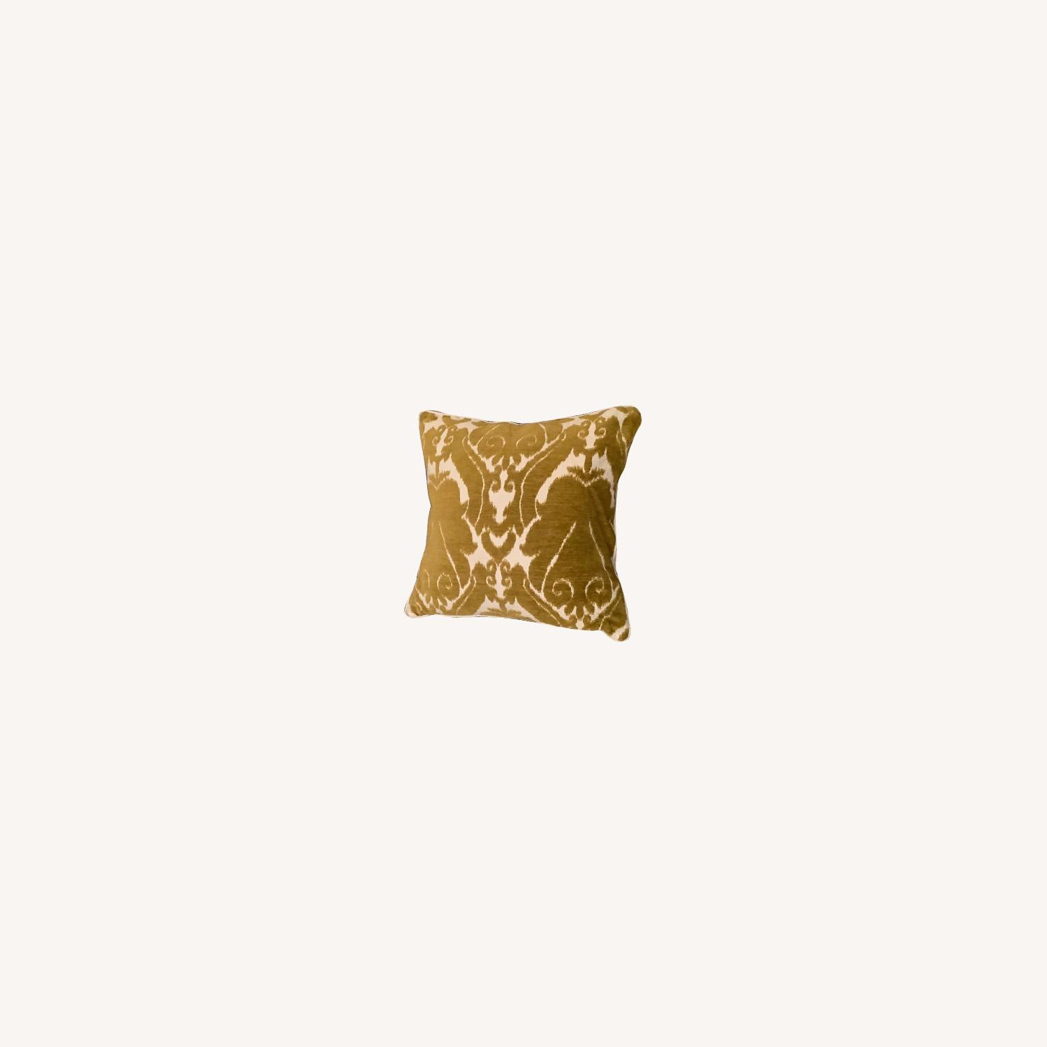 Jacquard Woven Chenille Throw Pillow - image-0