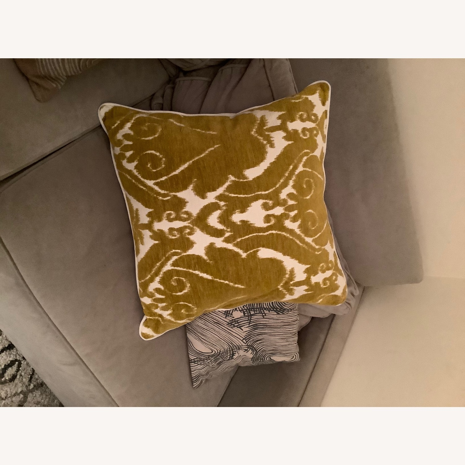 Jacquard Woven Chenille Throw Pillow - image-6