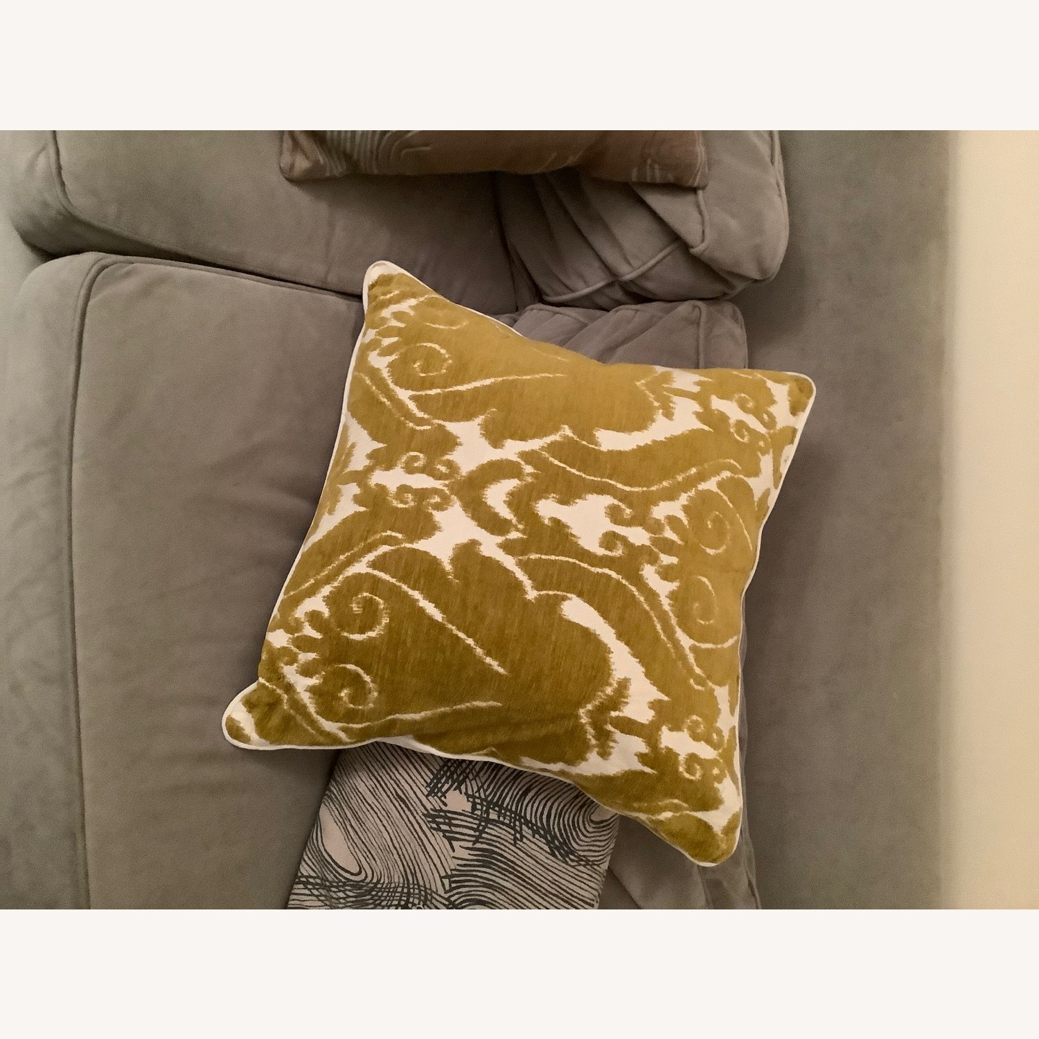 Jacquard Woven Chenille Throw Pillow - image-4