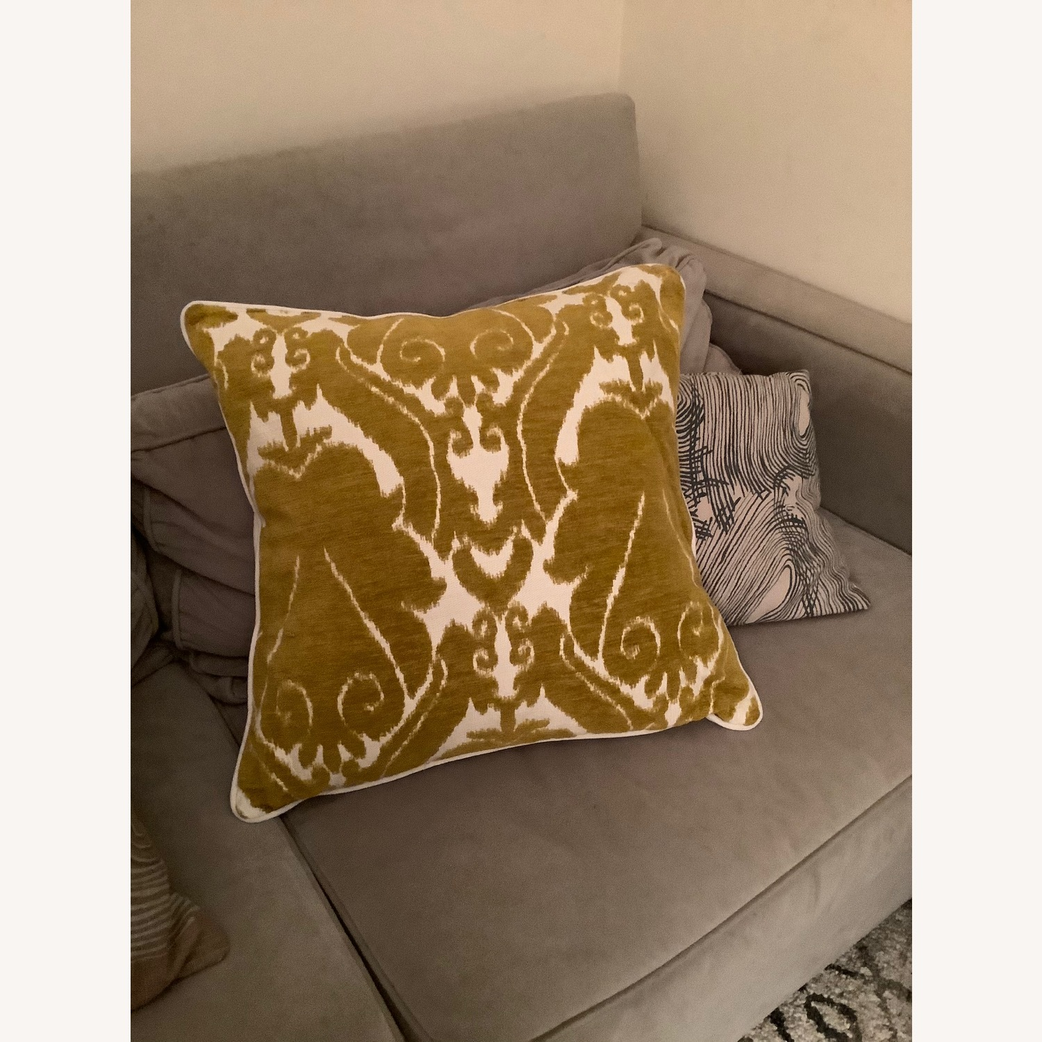 Jacquard Woven Chenille Throw Pillow - image-3