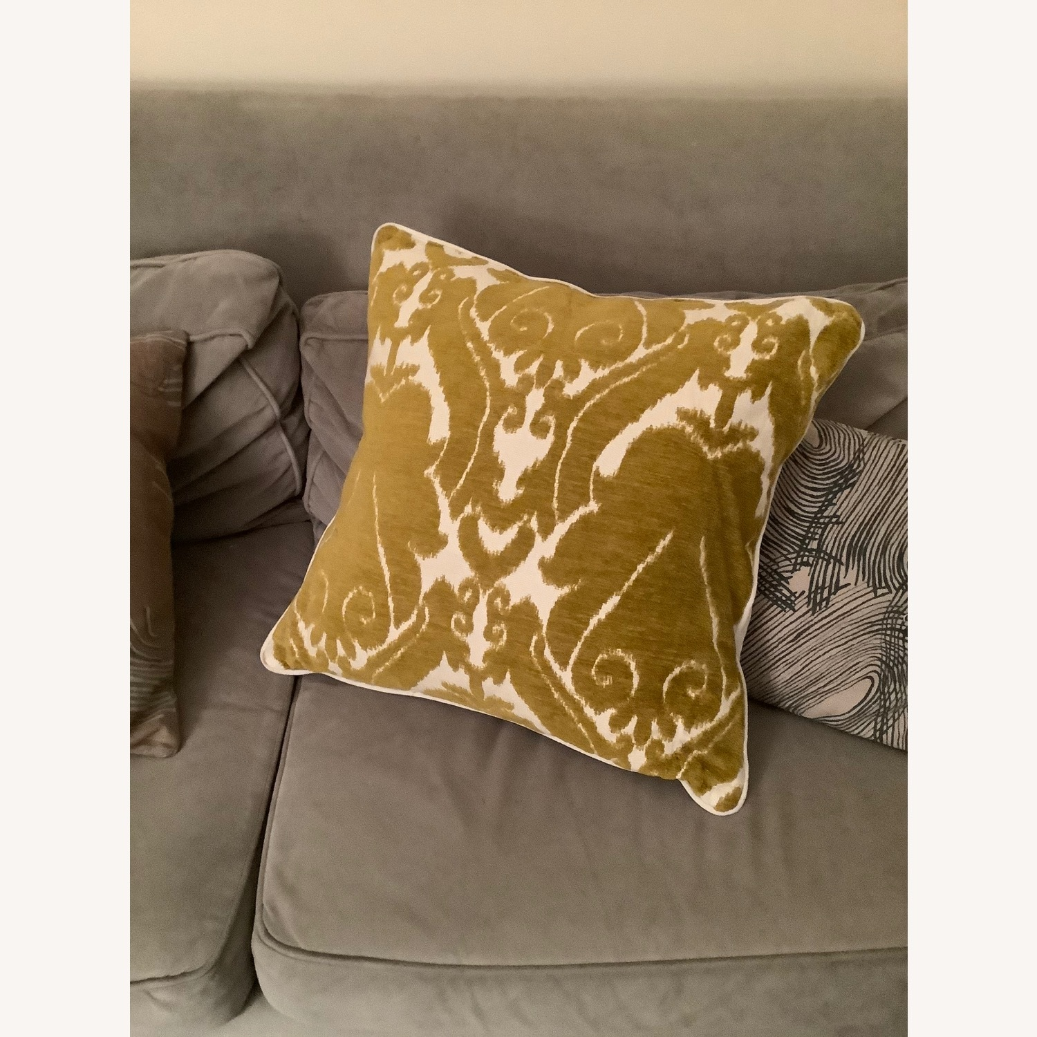 Jacquard Woven Chenille Throw Pillow - image-1