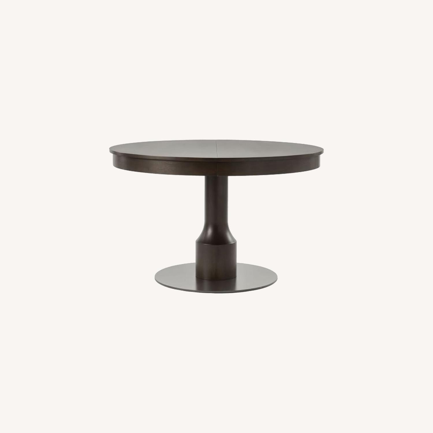 West Elm Turned Pedestal Expandable Dining Table - image-0