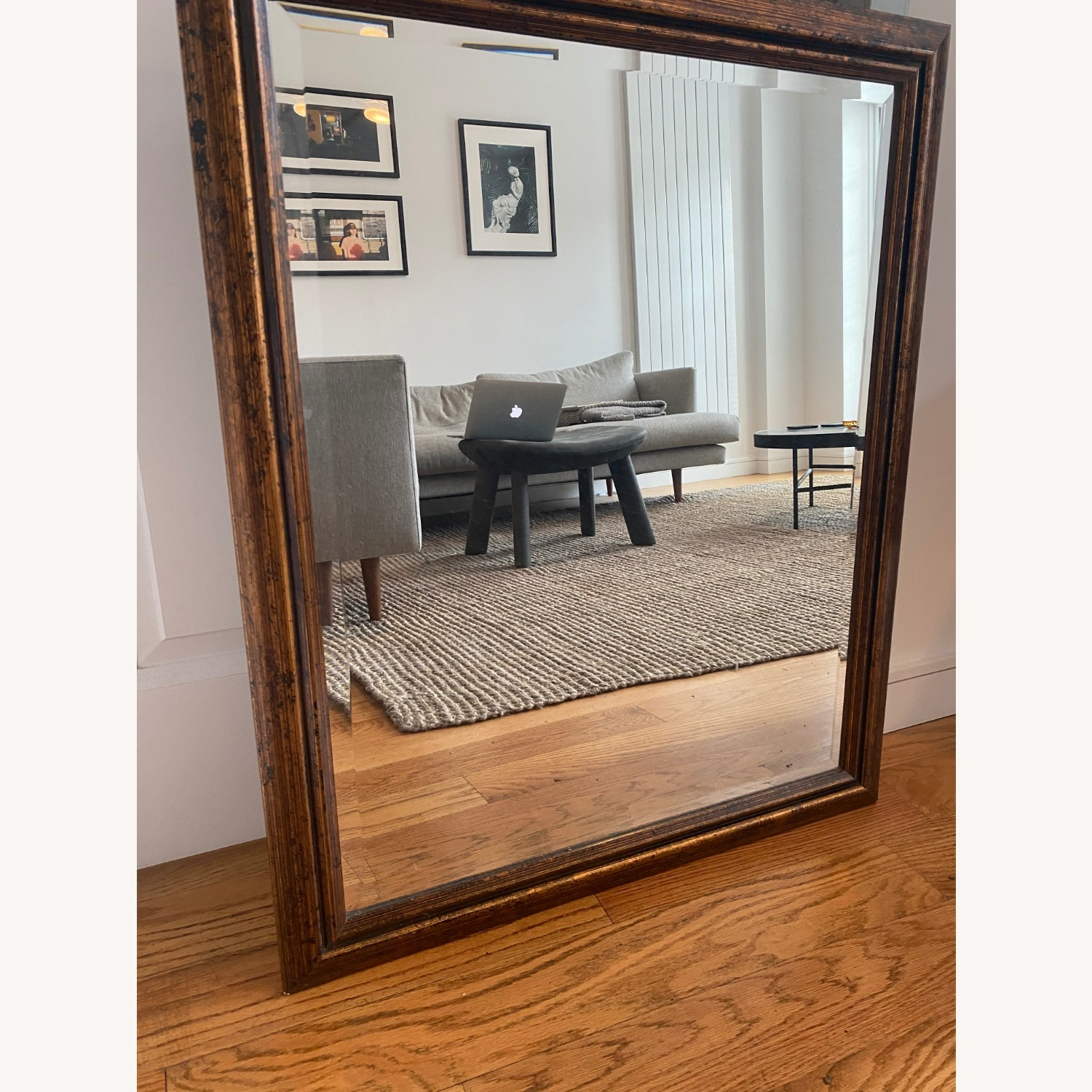 Brown Rectangle Mirror - image-3