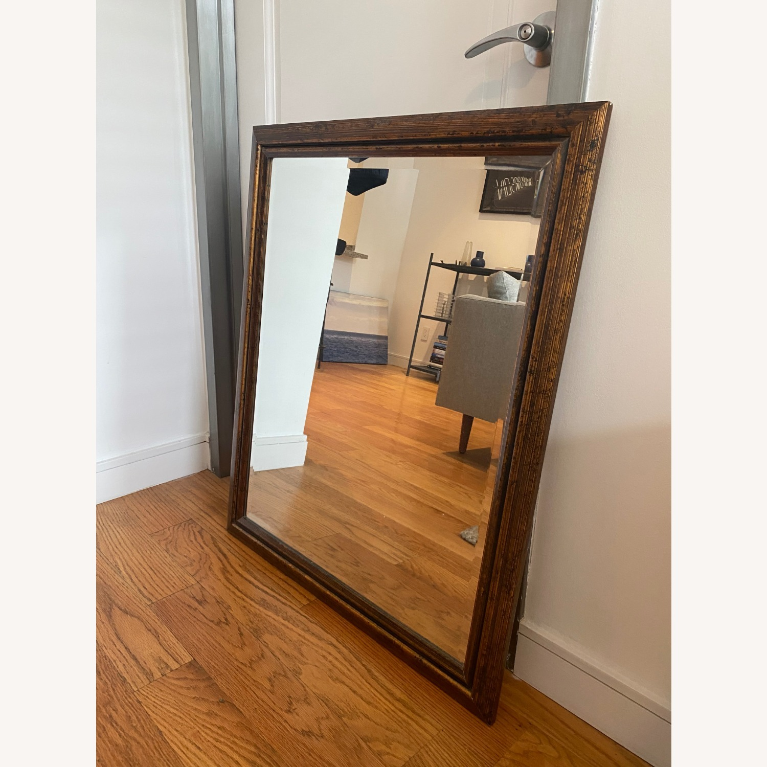 Brown Rectangle Mirror - image-1