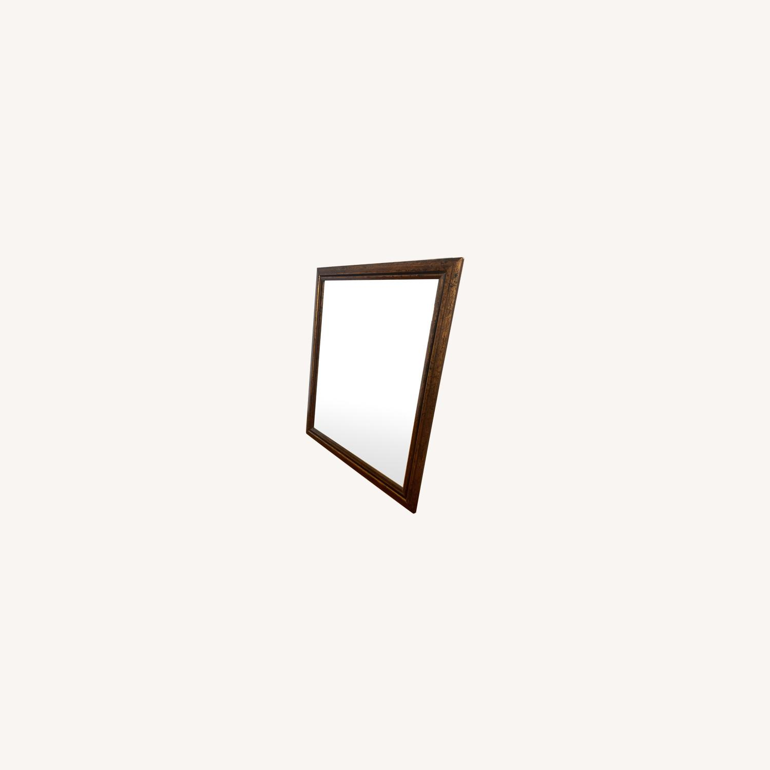 Brown Rectangle Mirror - image-0