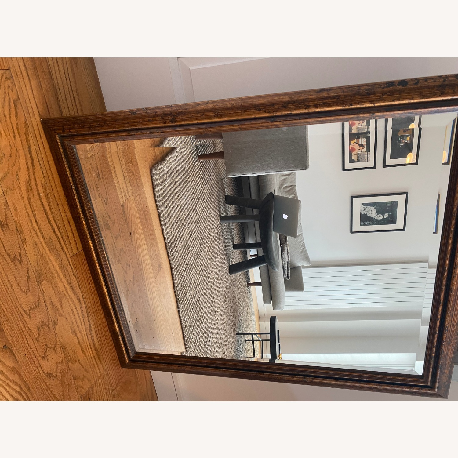Brown Rectangle Mirror - image-7