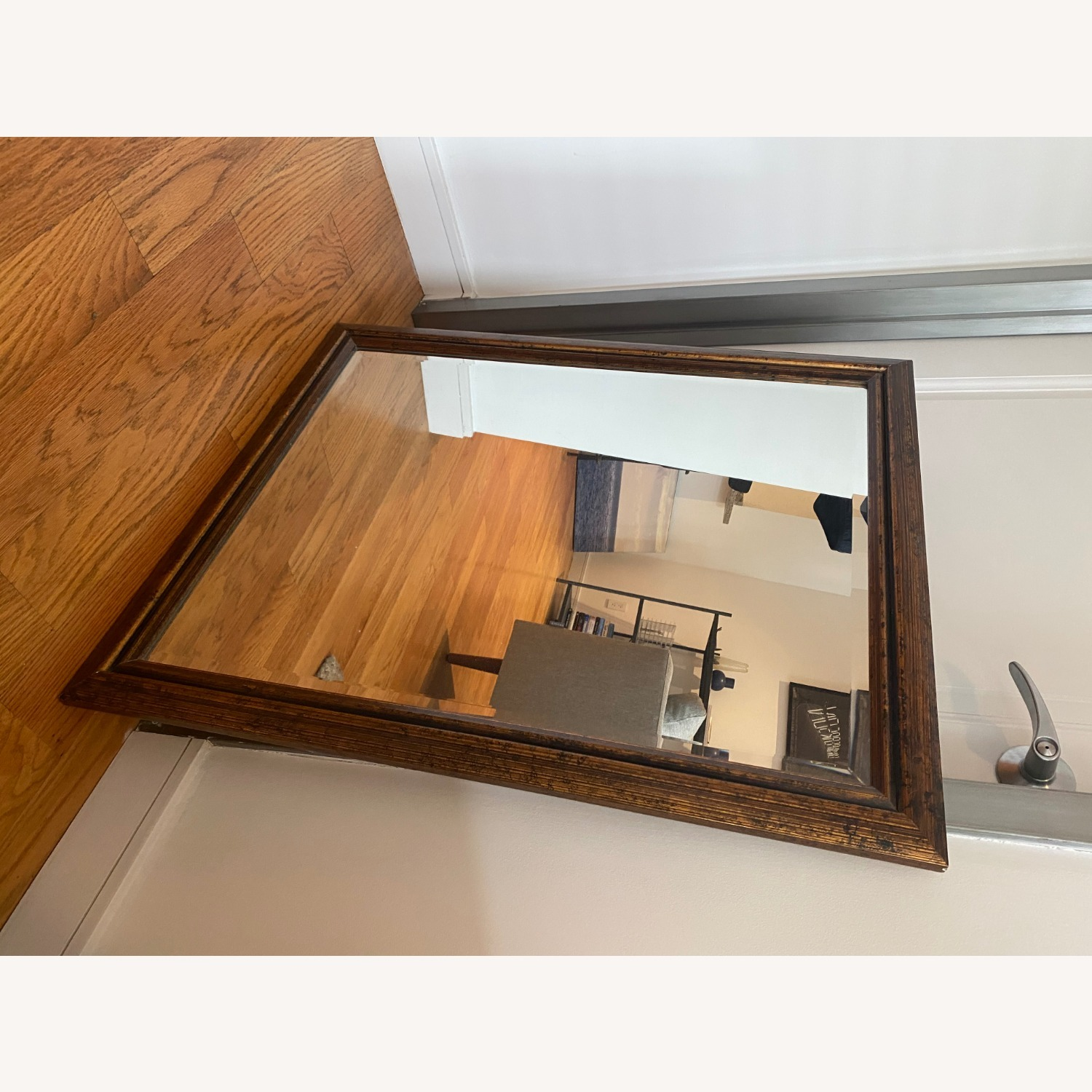 Brown Rectangle Mirror - image-5