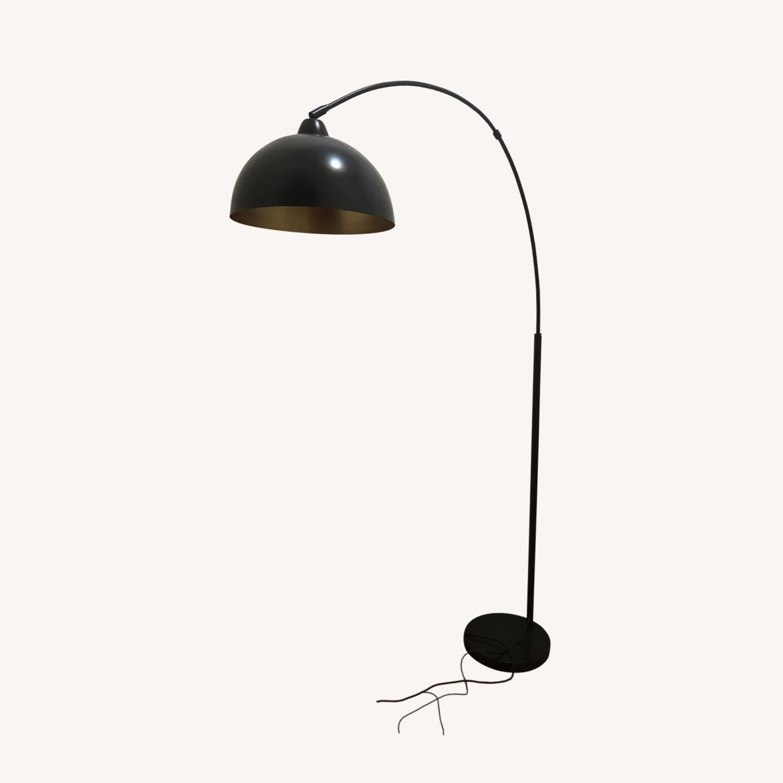 Modern Black Arch Floor Lamp - image-6