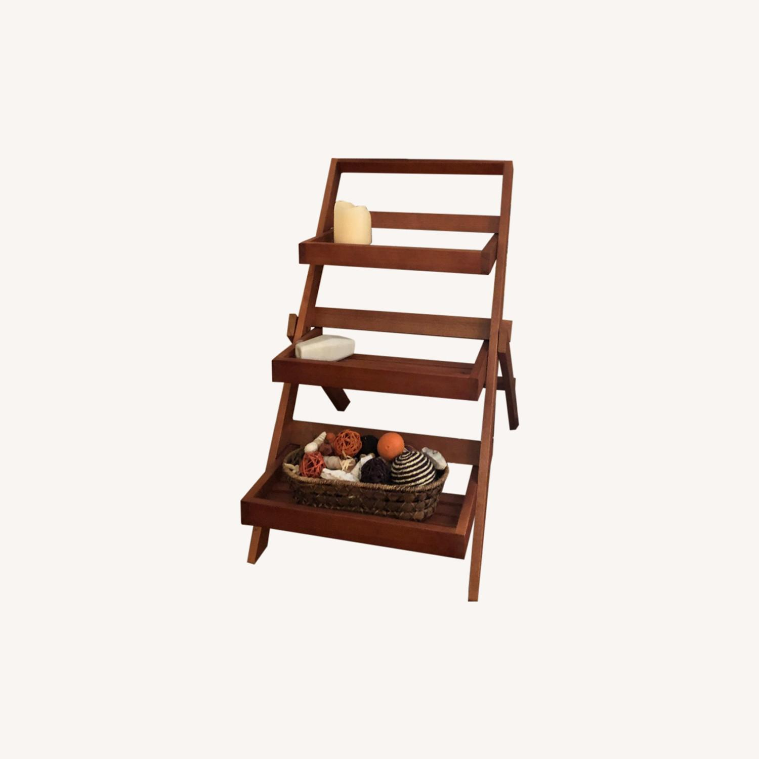Pier 1 Imports Wood 3-Tiered Plant Stand - image-0