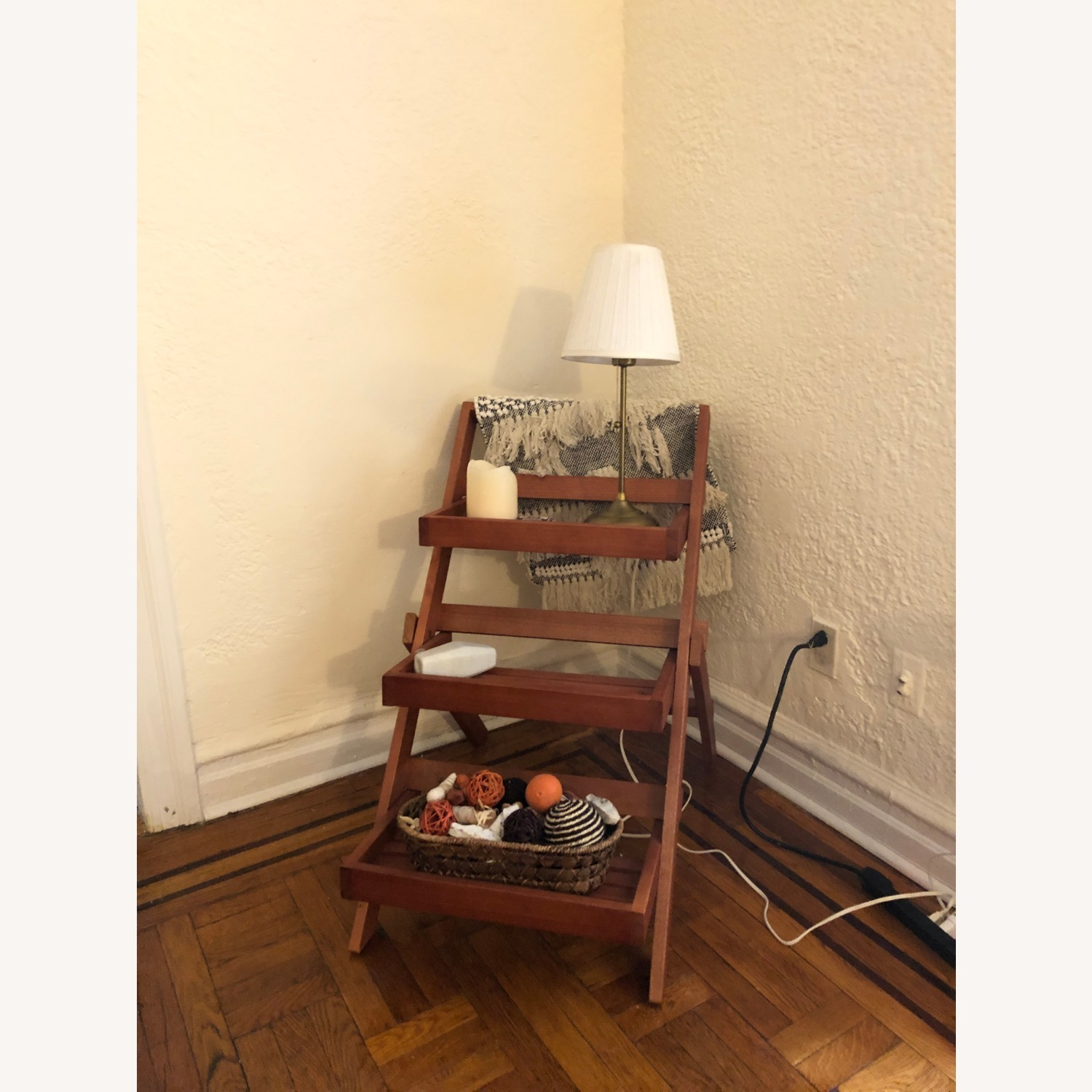 Pier 1 Imports Wood 3-Tiered Plant Stand - image-1