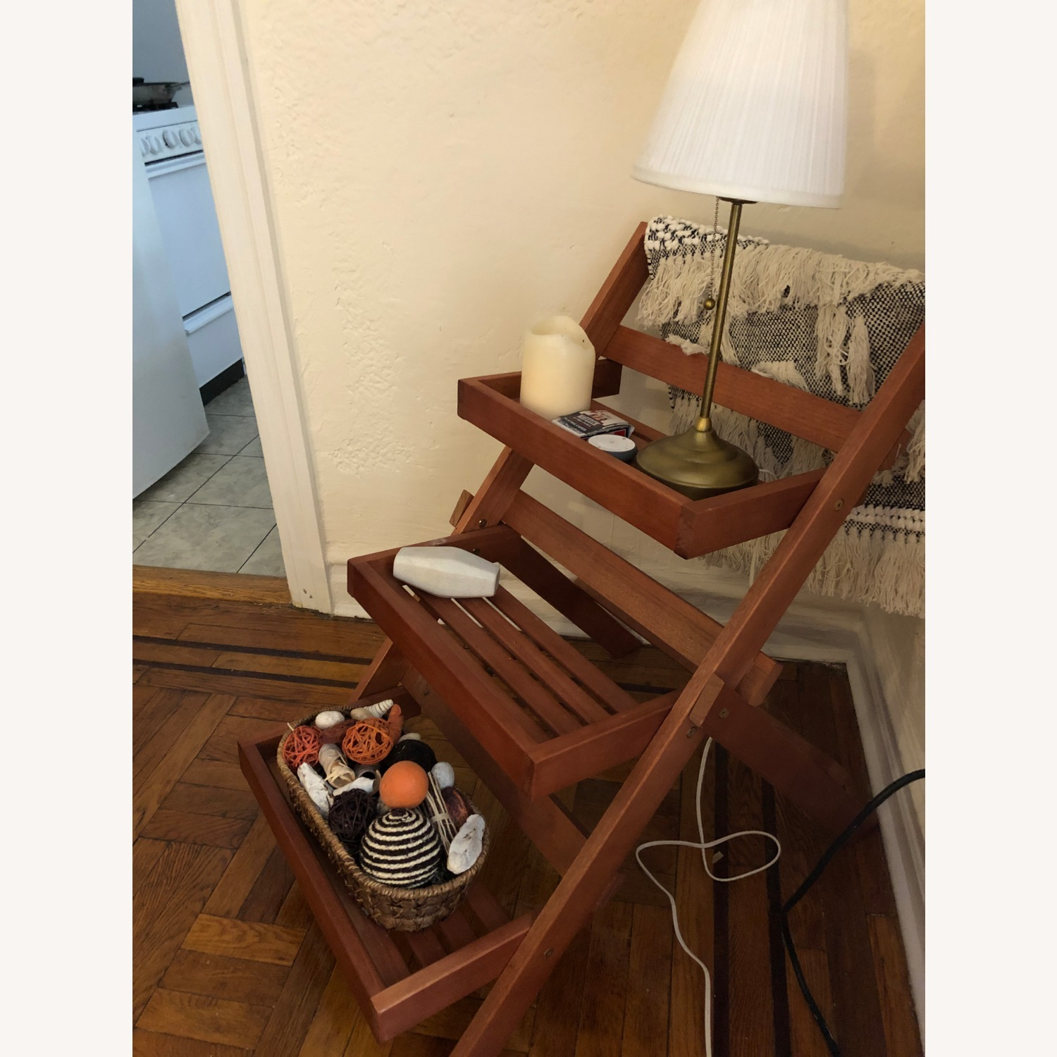 Pier 1 Imports Wood 3-Tiered Plant Stand - image-2